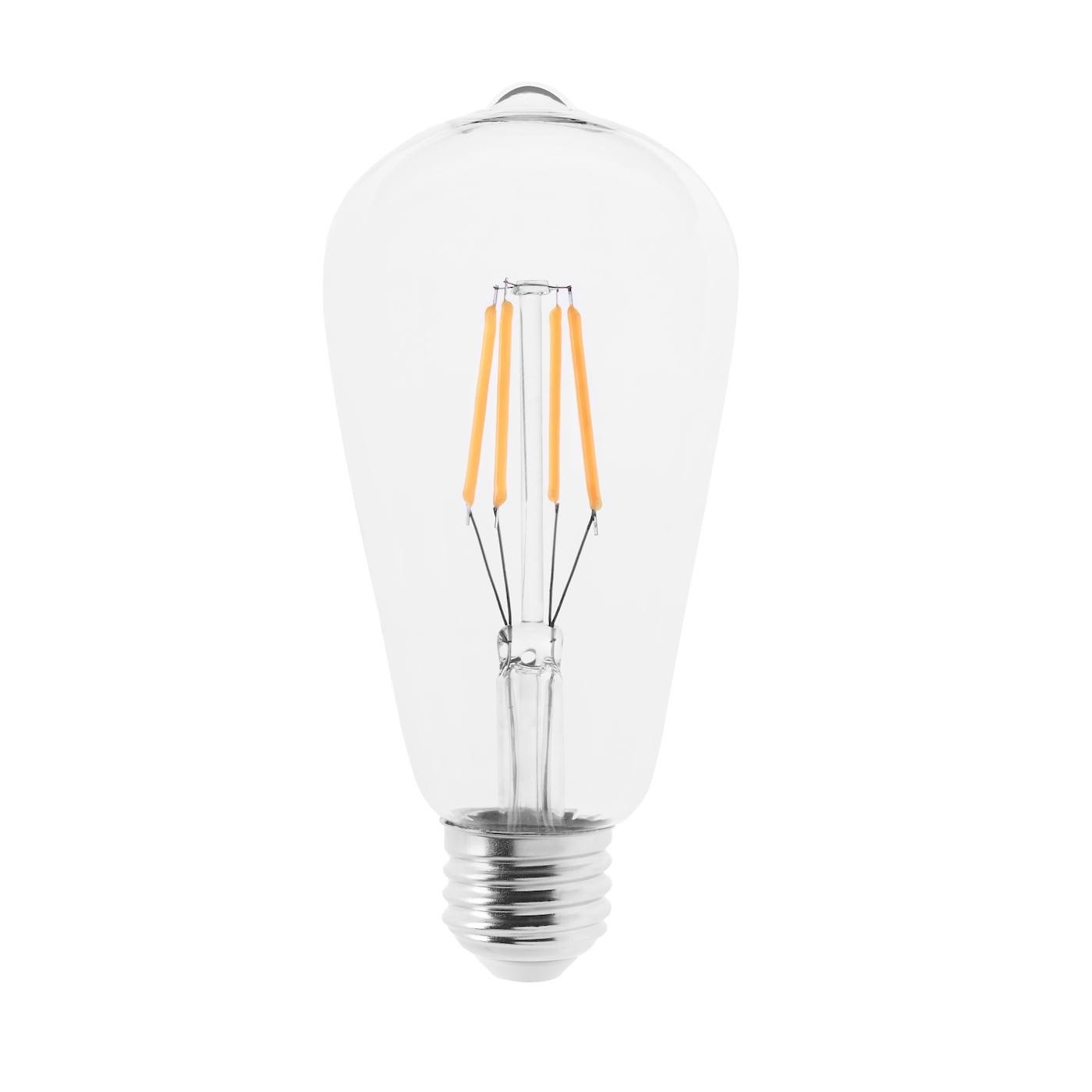lunnom ampoule led e27 400 lumen forme de goutte verre transparent 64 mm ikea. Black Bedroom Furniture Sets. Home Design Ideas