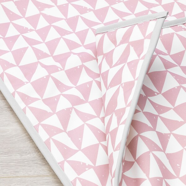 LURVIG Couverture, rose/triangle, 100x150 cm