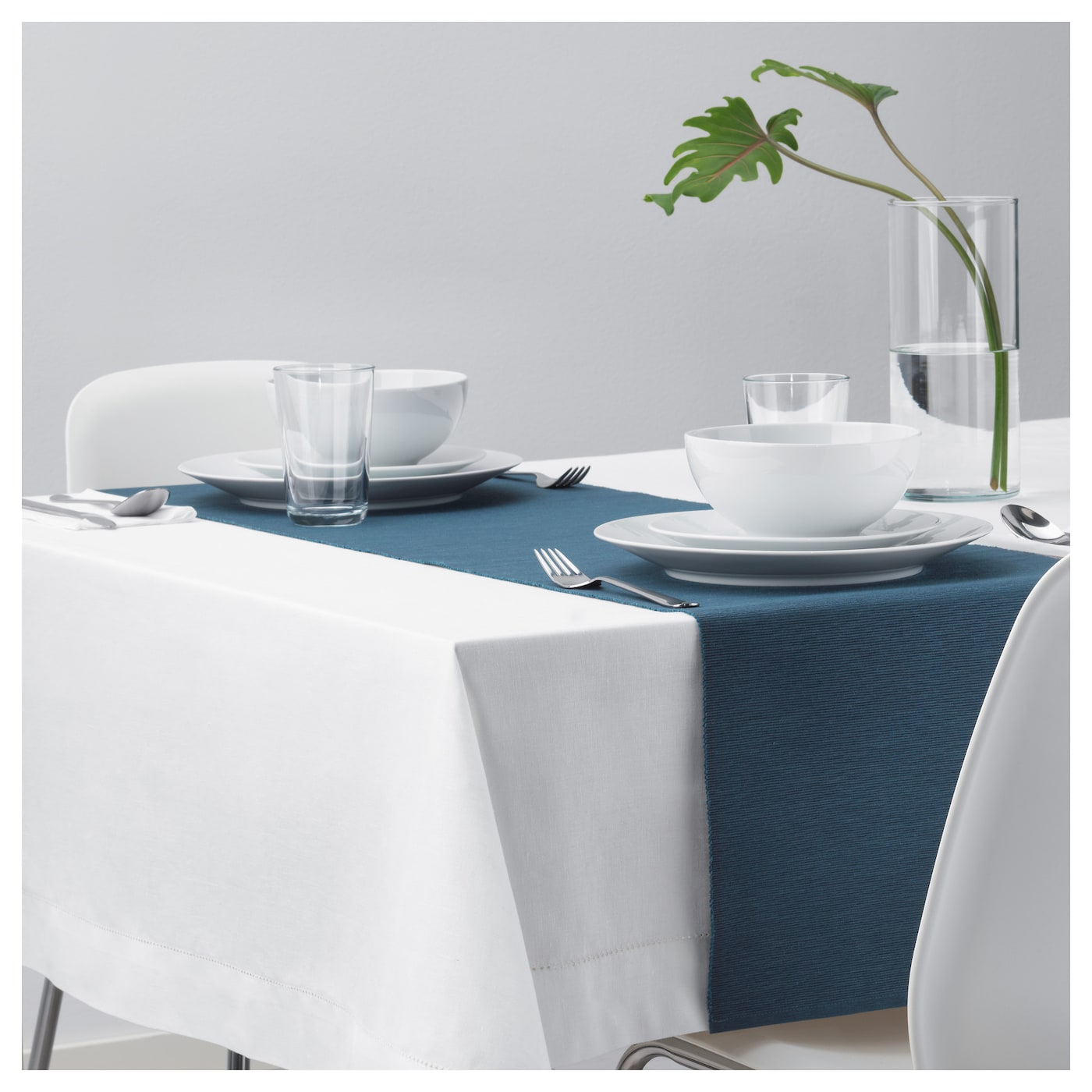 m rit chemin de table bleu fonc 35x130 cm ikea. Black Bedroom Furniture Sets. Home Design Ideas