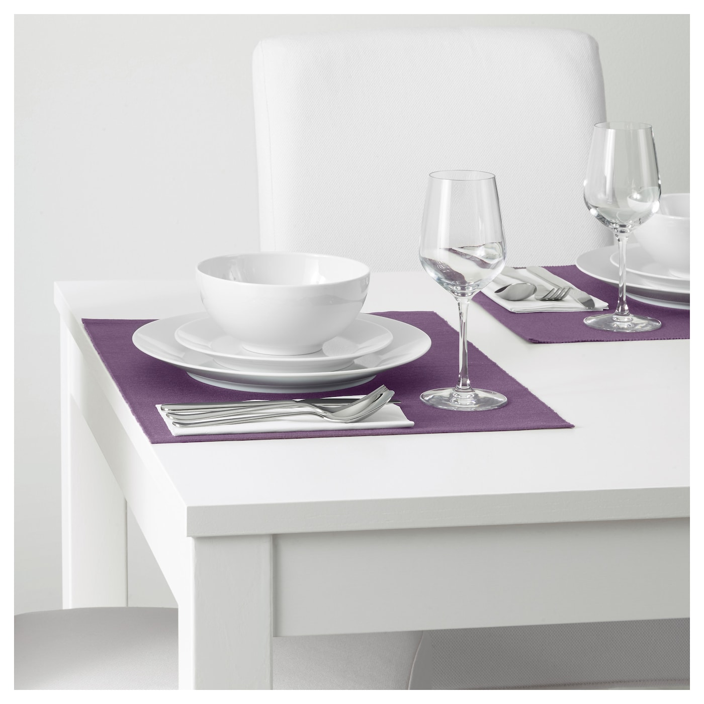 M rit set de table mauve 35x45 cm ikea for Set de table ikea