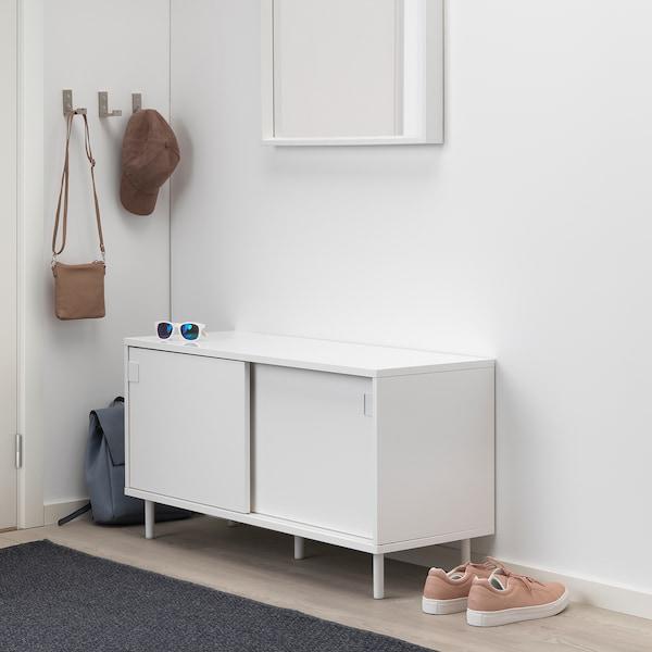 MACKAPÄR Banc av rangements, blanc, 100x51 cm