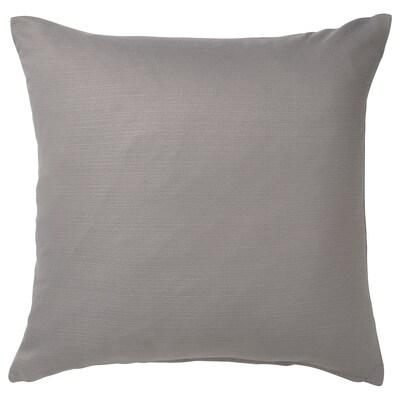 MAJBRÄKEN Housse de coussin, gris, 50x50 cm