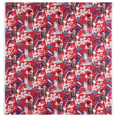 MÅLARBORSTE Tissu au mètre, rouge/multicolore, 150 cm