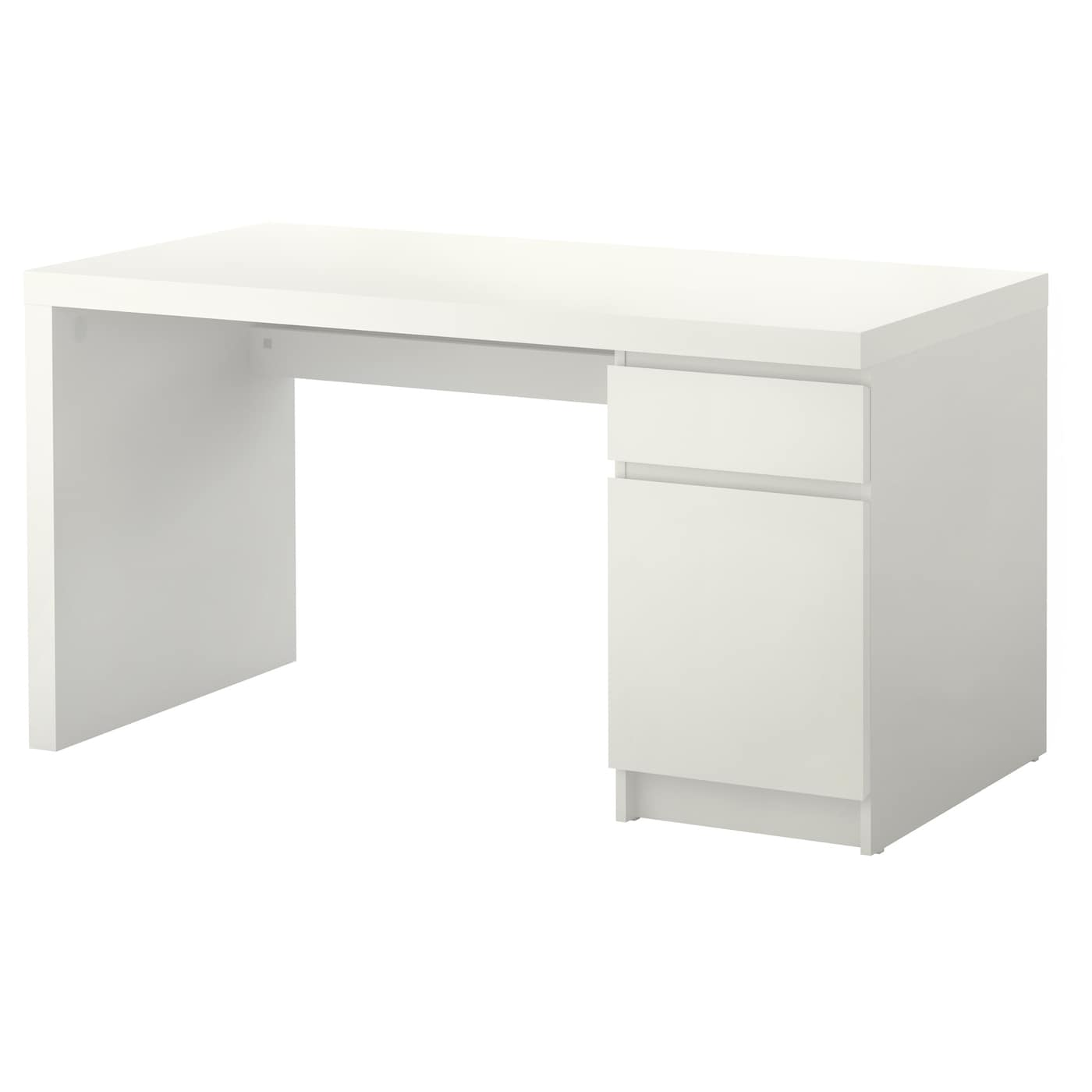 malm bureau blanc 140 x 65 cm ikea. Black Bedroom Furniture Sets. Home Design Ideas