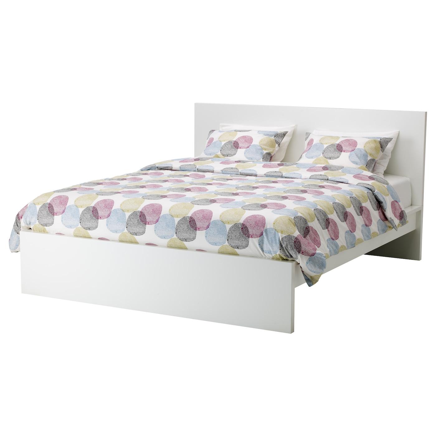 malm cadre de lit haut blanc l nset 180 x 200 cm ikea. Black Bedroom Furniture Sets. Home Design Ideas