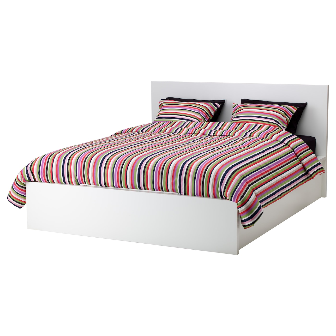 malm cadre lit coffre blanc 140x200 cm ikea. Black Bedroom Furniture Sets. Home Design Ideas
