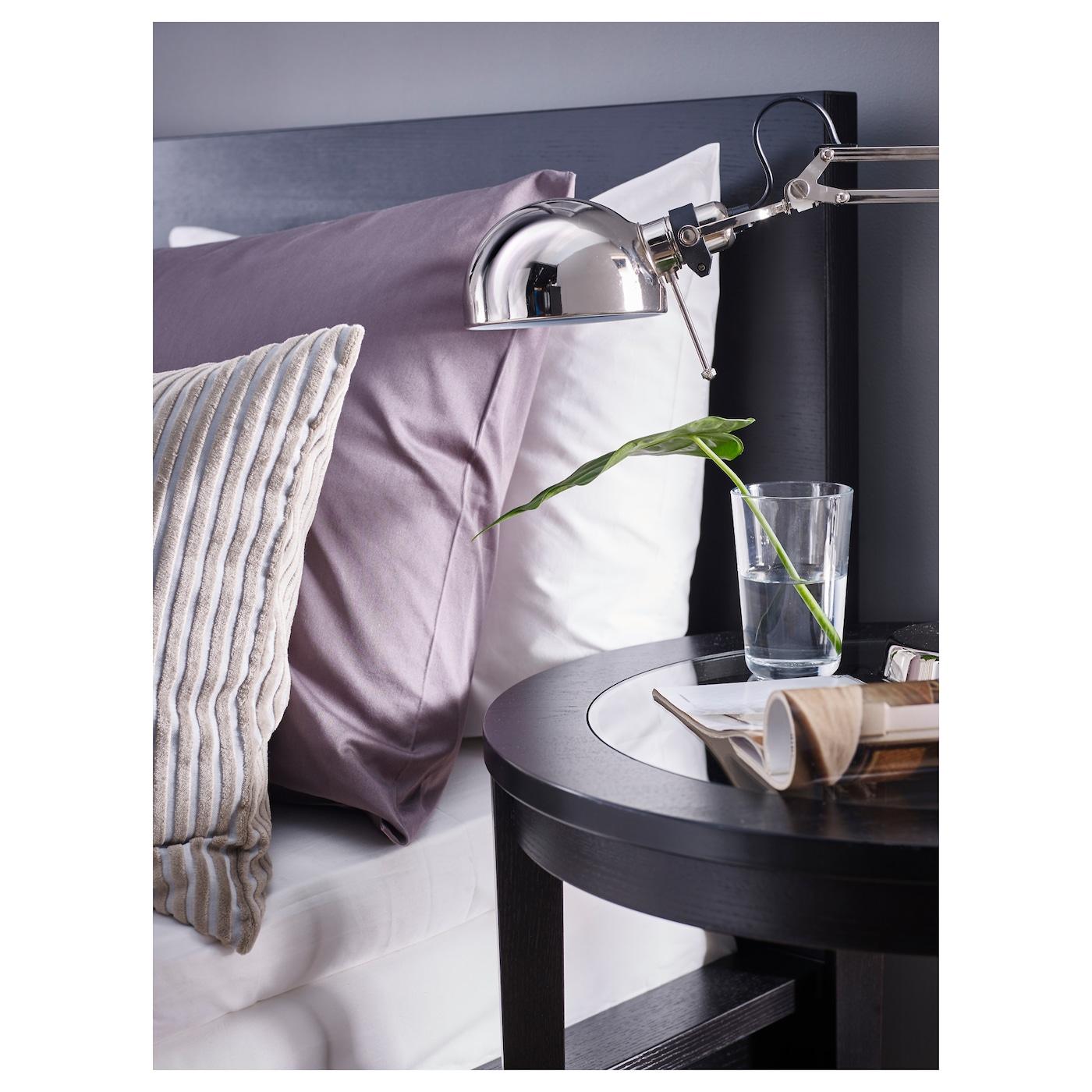 malm cadre lit haut 4rgt brun noir lur y 160 x 200 cm ikea. Black Bedroom Furniture Sets. Home Design Ideas