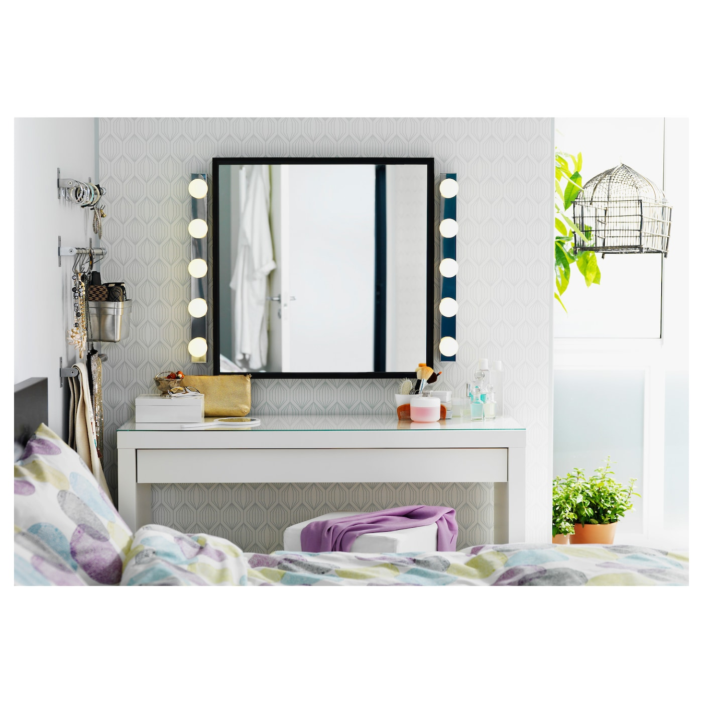 malm coiffeuse blanc 120 x 41 cm ikea. Black Bedroom Furniture Sets. Home Design Ideas