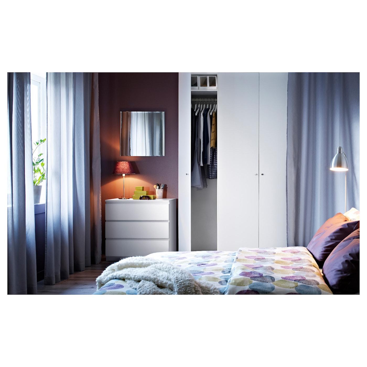 malm commode 3 tiroirs blanc 80 x 78 cm ikea. Black Bedroom Furniture Sets. Home Design Ideas