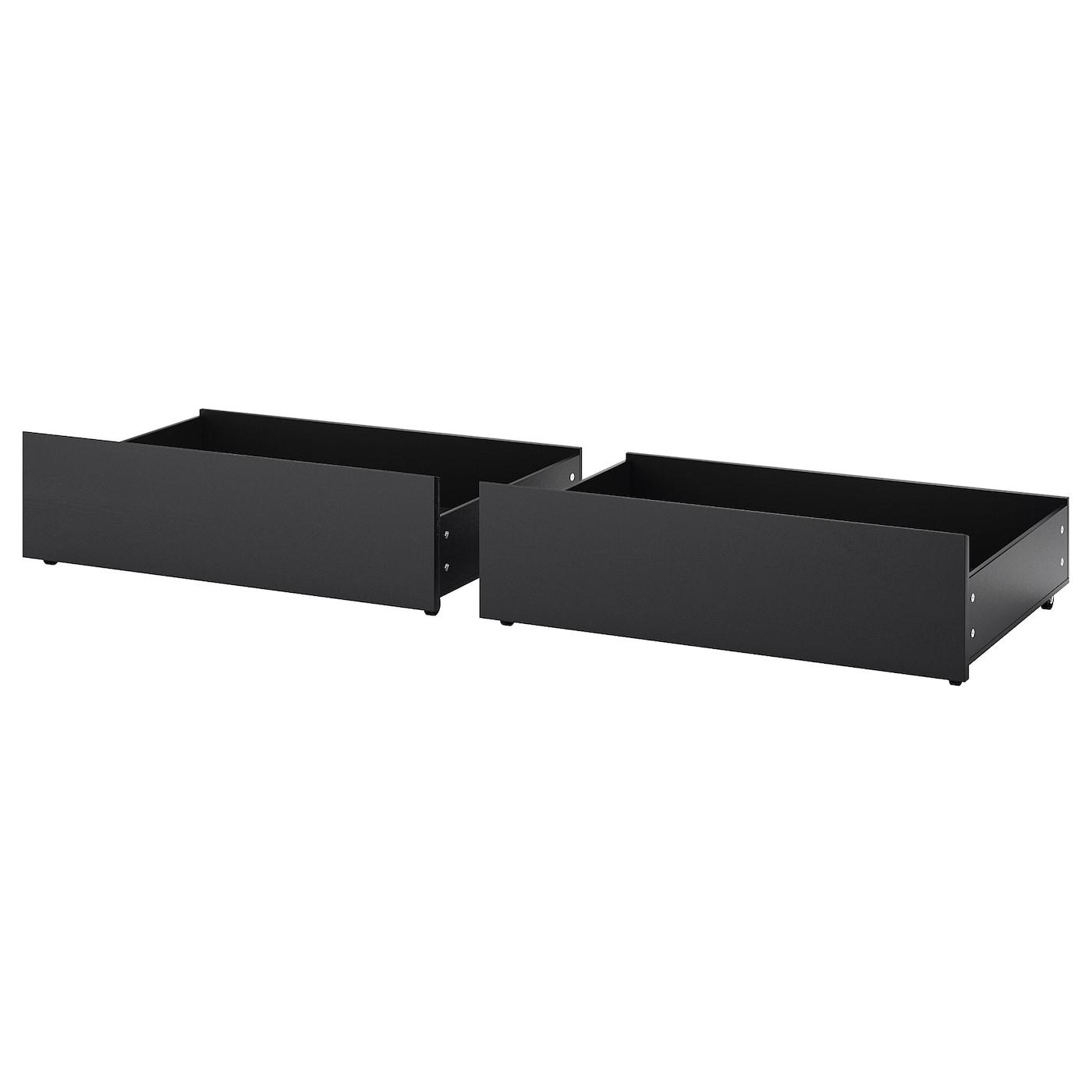 malm cadre de lit haut brun noir 160 x 200 cm ikea. Black Bedroom Furniture Sets. Home Design Ideas