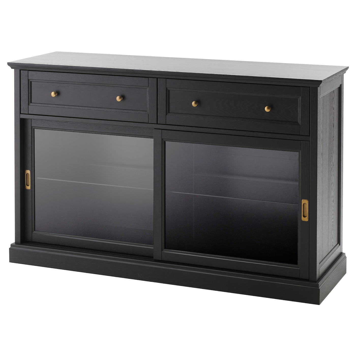 Malsj Meuble Bas Teint Noir 145×92 Cm Ikea # Meuble Bas Ikea