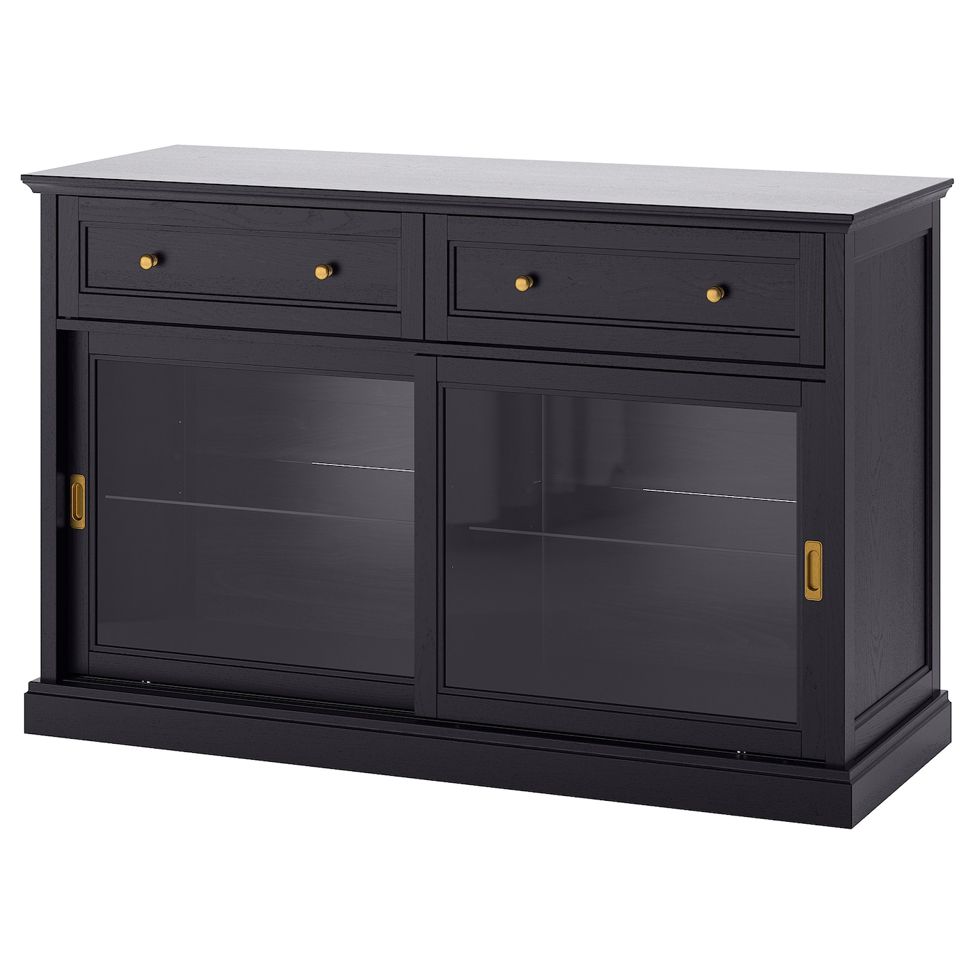malsj meuble bas teint noir 145 x 92 cm ikea. Black Bedroom Furniture Sets. Home Design Ideas