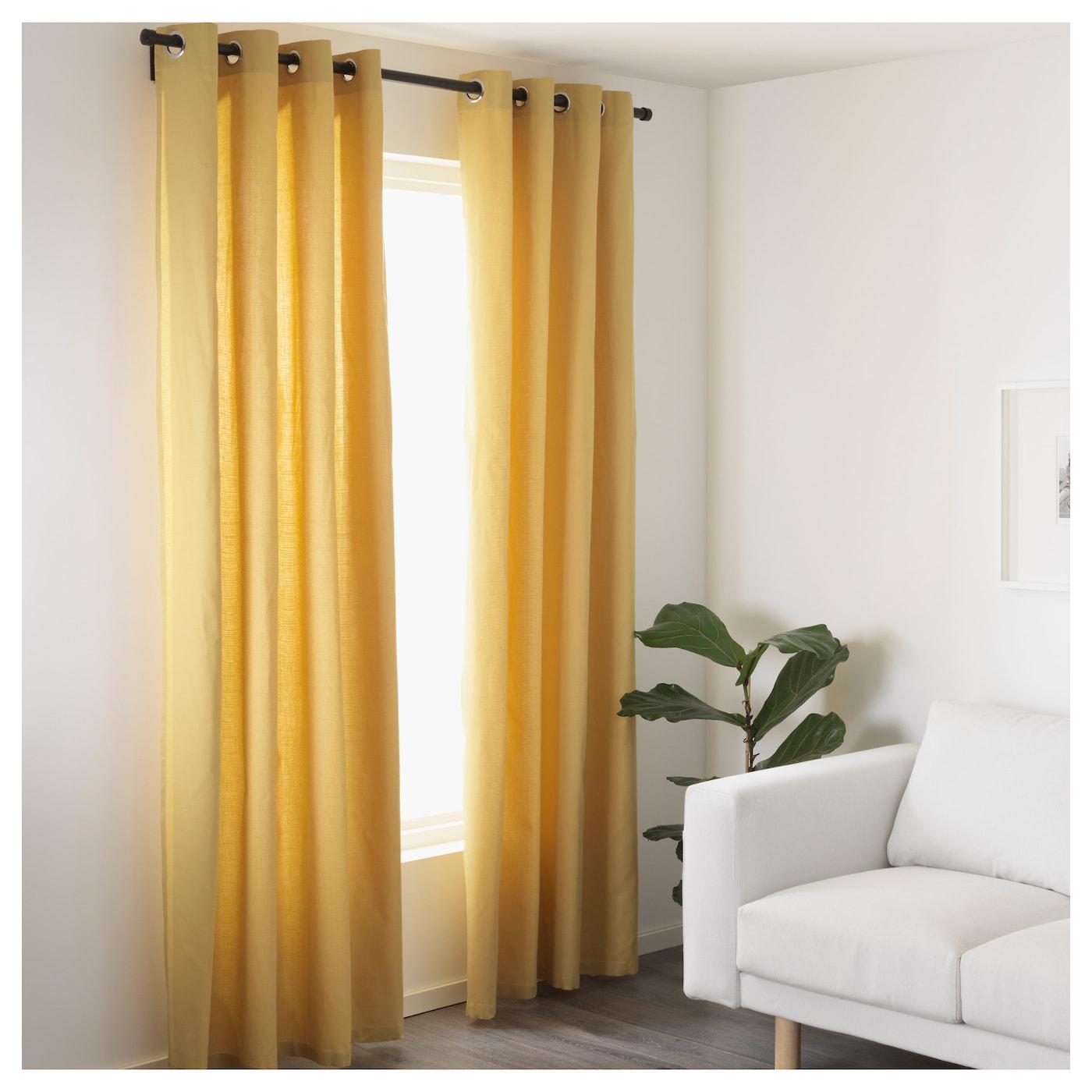mariam rideaux 1 paire jaune 145x300 cm ikea. Black Bedroom Furniture Sets. Home Design Ideas