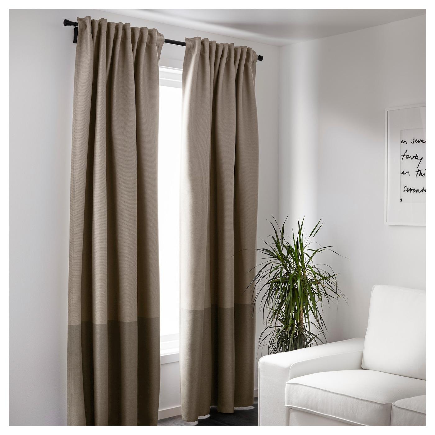Marjun rideaux occultant 1 paire brun 145 x 300 cm ikea - Rideaux 300 cm ...
