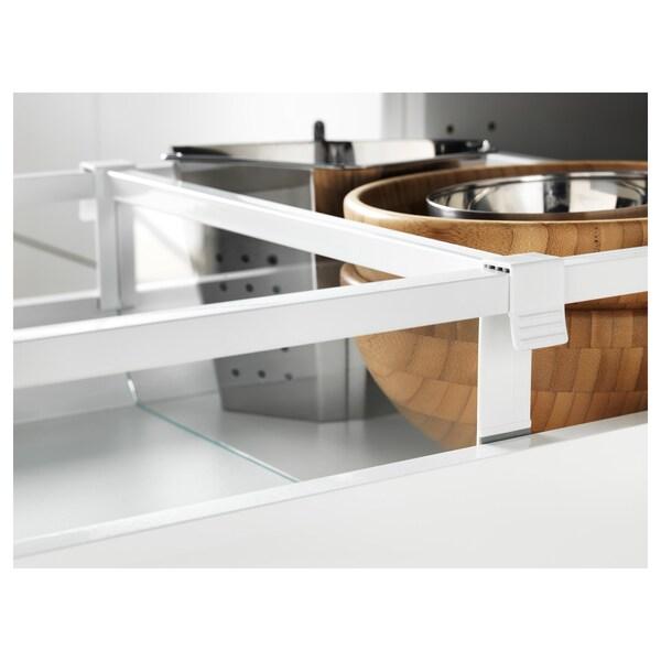 MAXIMERA séparateur pour tiroir moyen blanc/transparent 35.6 cm 40 cm 12.3 cm 2.4 cm
