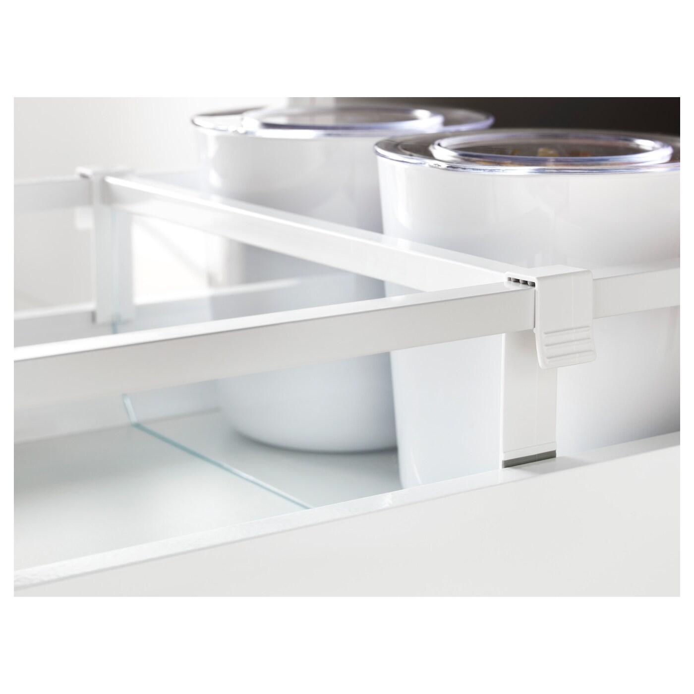 maximera s parateur pour tiroir moyen blanc transparent 40 cm ikea. Black Bedroom Furniture Sets. Home Design Ideas