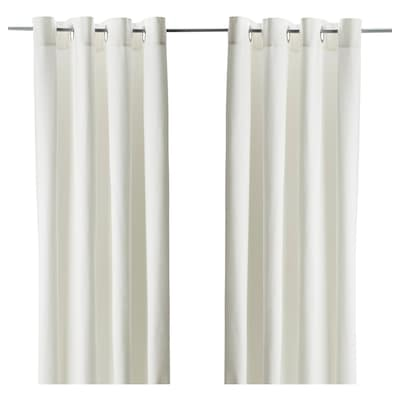 MERETE Rideaux, 2 pièces, blanc, 145x300 cm