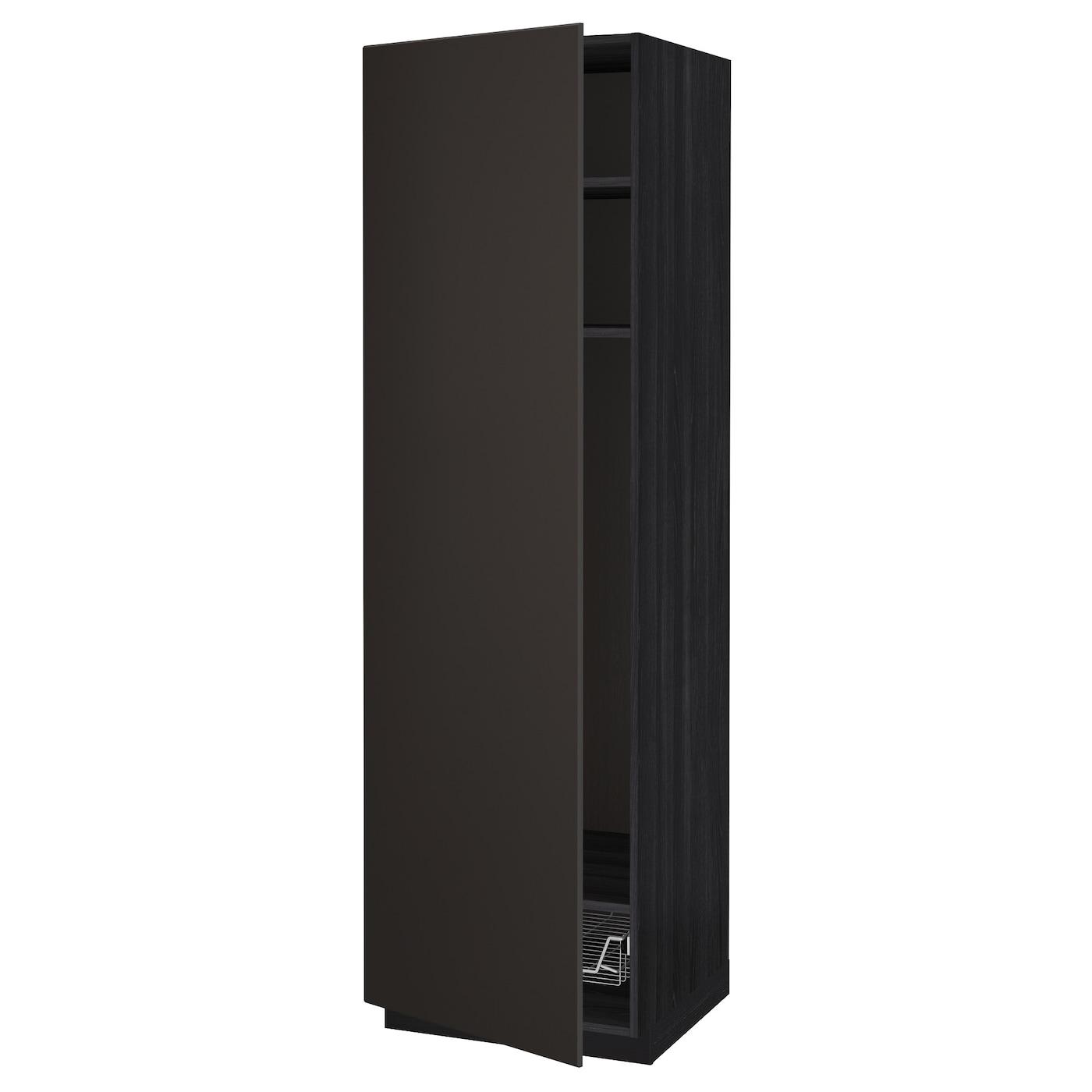 metod l ht tablettes corb noir kungsbacka anthracite 60x60x200 cm ikea. Black Bedroom Furniture Sets. Home Design Ideas