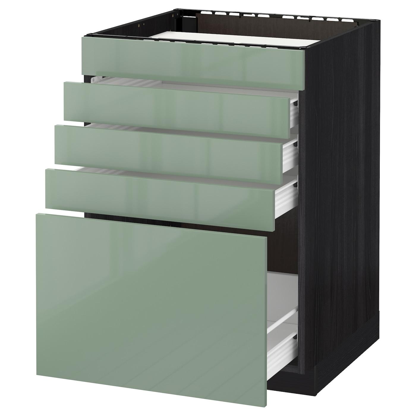 metod lt bs tble cuiss 5 faces 4 tiroirs noir kallarp vert clair 60x60 cm ikea. Black Bedroom Furniture Sets. Home Design Ideas