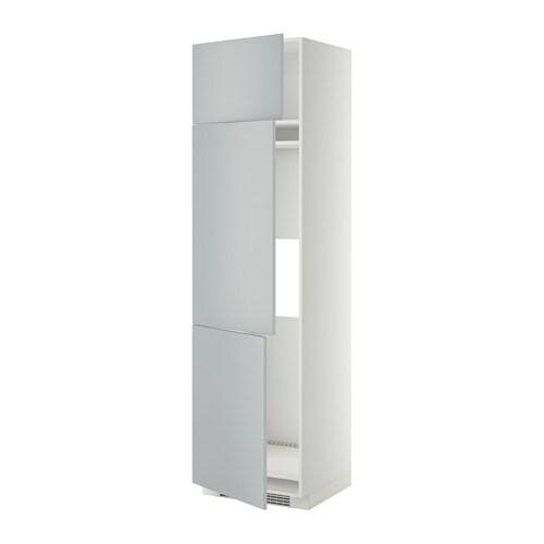 Metod Arm R Fr Cong 3 Ptes Blanc Veddinge Gris 60x60x220 Cm Ikea