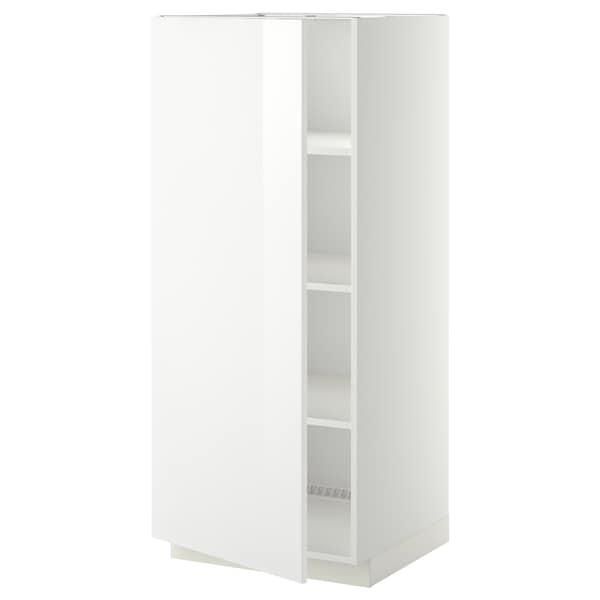 METOD Armoire avec tablettes, blanc/Ringhult blanc, 60x60x140 cm