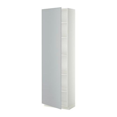 ... Armoire avec tablettes - blanc, Veddinge gris, 60x37x200 cm - IKEA