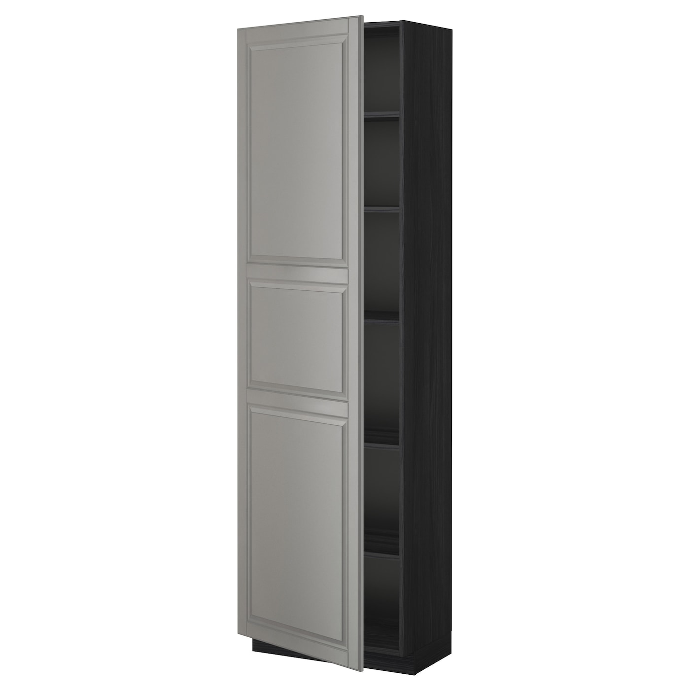 metod armoire avec tablettes noir bodbyn gris 60 x 37 x 200 cm ikea. Black Bedroom Furniture Sets. Home Design Ideas