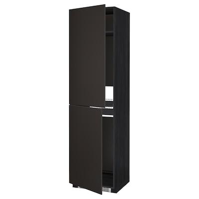 METOD Armoire pour réfrig./congélateur, noir/Kungsbacka anthracite, 60x60x220 cm