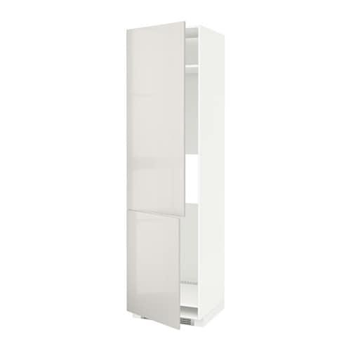 metod armoire r fr cong 2ptes blanc ringhult brillant gris clair ikea. Black Bedroom Furniture Sets. Home Design Ideas