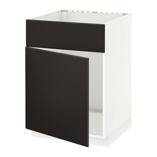 metod l bas pr vier pte face blanc kungsbacka anthracite ikea. Black Bedroom Furniture Sets. Home Design Ideas
