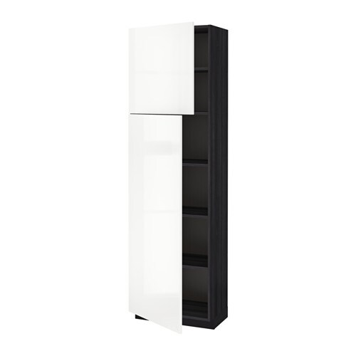 metod l ht tablette 2ptes effet bois noir ringhult brillant blanc 60x37x200 cm ikea. Black Bedroom Furniture Sets. Home Design Ideas