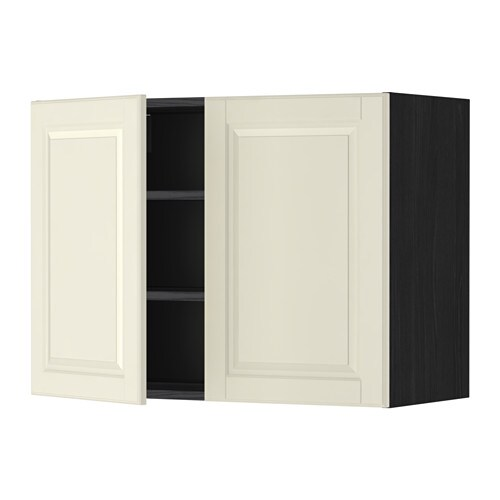 metod l mur tbls 2p effet bois noir bodbyn blanc cass. Black Bedroom Furniture Sets. Home Design Ideas