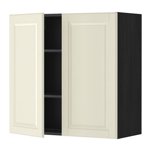 metod l mur tbls 2p effet bois noir bodbyn blanc cass 80x80 cm ikea. Black Bedroom Furniture Sets. Home Design Ideas