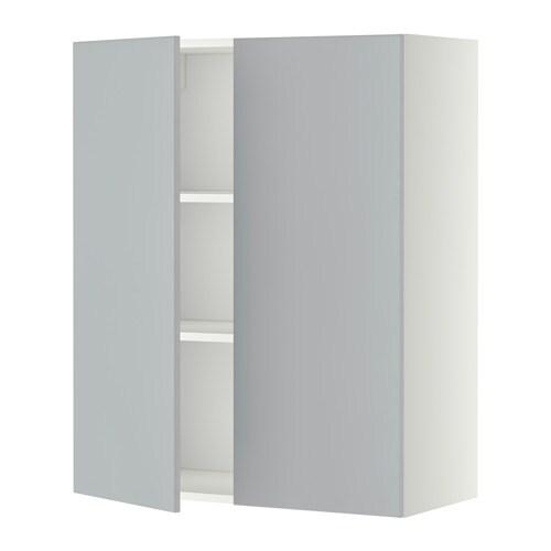 Metod L Mur Tbls 2p Blanc Veddinge Gris 80x100 Cm Ikea