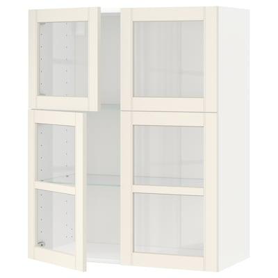 METOD Él mur+tblts/4p vit, blanc/Hittarp blanc cassé, 80x100 cm