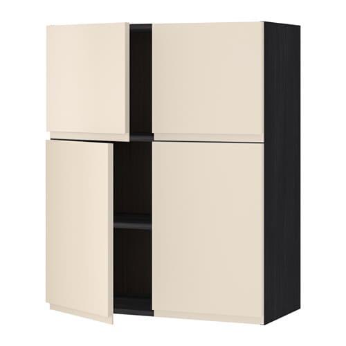 Cuisine Moderne Noir Et Rouge : METOD Él mur tbs4p  effet bois noir, Voxtorp beige clair  IKEA