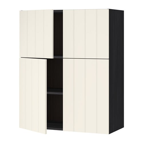 metod l mur tbs 4p effet bois noir hittarp blanc cass ikea. Black Bedroom Furniture Sets. Home Design Ideas