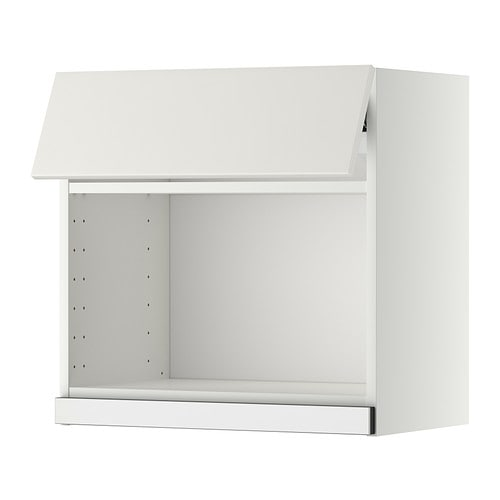 Metod Él Mural Pr Micro-Ondes - Blanc, Veddinge Blanc, 60X60 Cm - Ikea