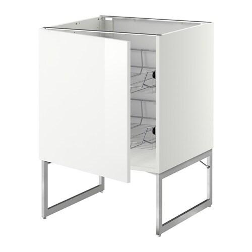 corbeilles en fil  blanc, Ringhult brillant blanc, 60x60x60 cm  IKEA