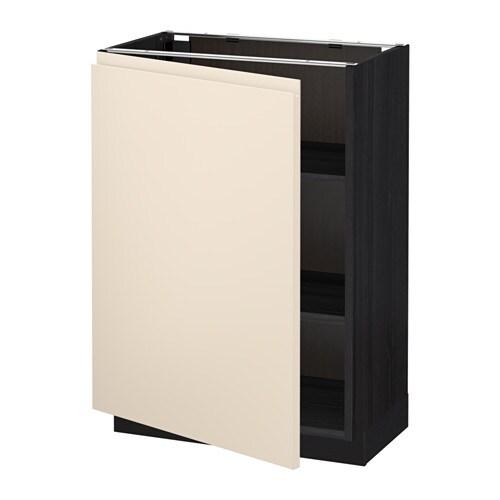 metod l ment bas avec tablettes effet bois noir voxtorp beige clair 60x37 cm ikea. Black Bedroom Furniture Sets. Home Design Ideas