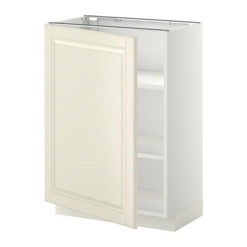 Metod L Ment Bas Avec Tablettes Blanc Bodbyn Blanc Cass 60x37 Cm Ikea