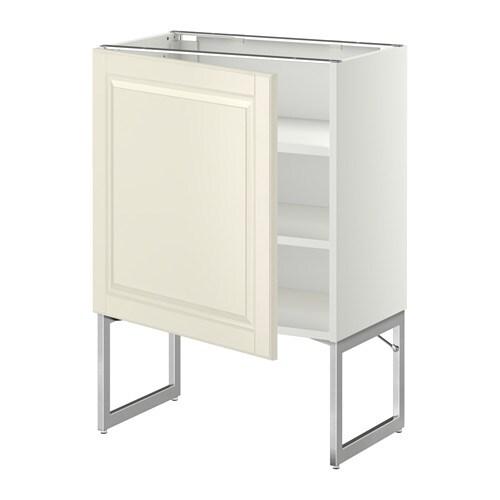 Metod L Ment Bas Avec Tablettes Blanc Bodbyn Blanc Cass 60x37x60 Cm Ikea