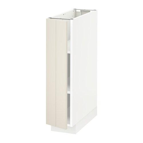 Metod L Ment Bas Avec Tablettes Blanc Hittarp Blanc Cass 20x60 Cm Ikea