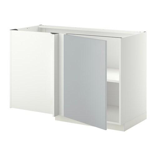 Metod L Ment Bas D 39 Angle Tablette Blanc Veddinge Gris Ikea