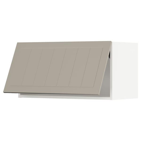 METOD Élément mural horizontal, blanc/Stensund beige, 80x40 cm