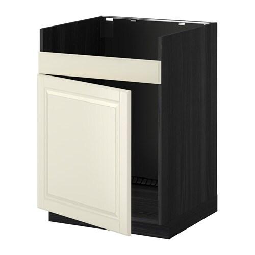 metod l ment pour vier domsj 1 bac effet bois noir bodbyn blanc cass ikea. Black Bedroom Furniture Sets. Home Design Ideas