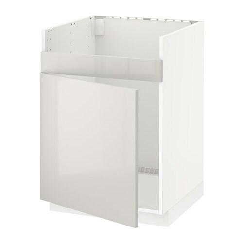 metod l ment pour vier domsj 1 bac blanc ringhult brillant gris clair ikea. Black Bedroom Furniture Sets. Home Design Ideas