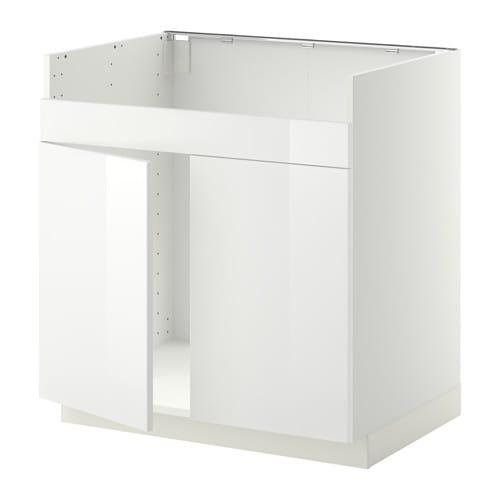 Chambre A Coucher Ikea :  pour évier DOMSJÖ 2 bacs  blanc, Ringhult brillant blanc  IKEA