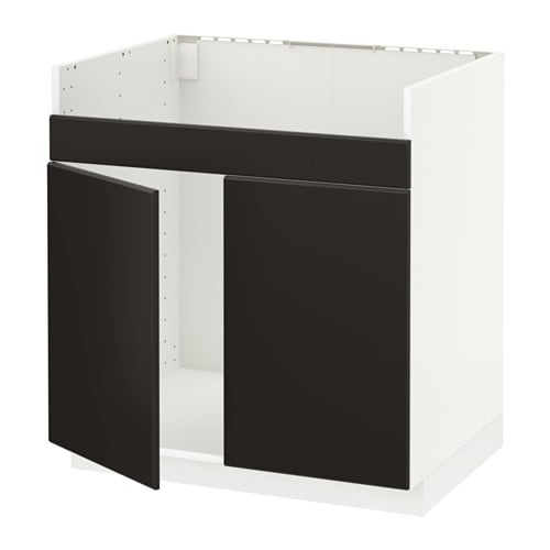 metod l ment pour vier domsj 2 bacs blanc kungsbacka anthracite ikea. Black Bedroom Furniture Sets. Home Design Ideas