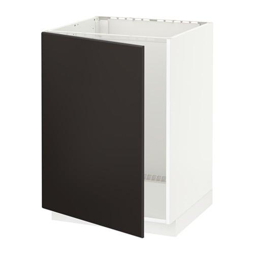 metod lt bas vier blanc kungsbacka anthracite ikea. Black Bedroom Furniture Sets. Home Design Ideas